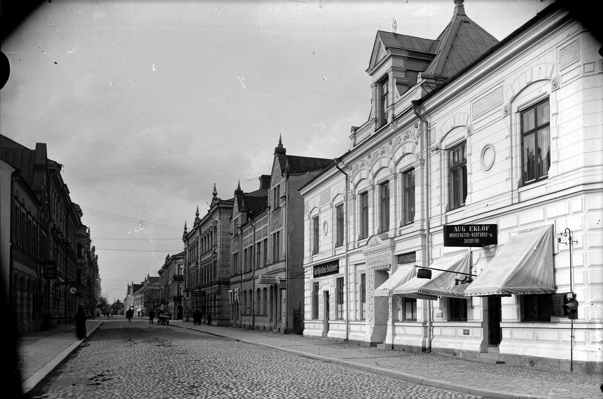 Östra Långgatan, 1917. Bergendahlska huset, Kv. Freja/Frode.
