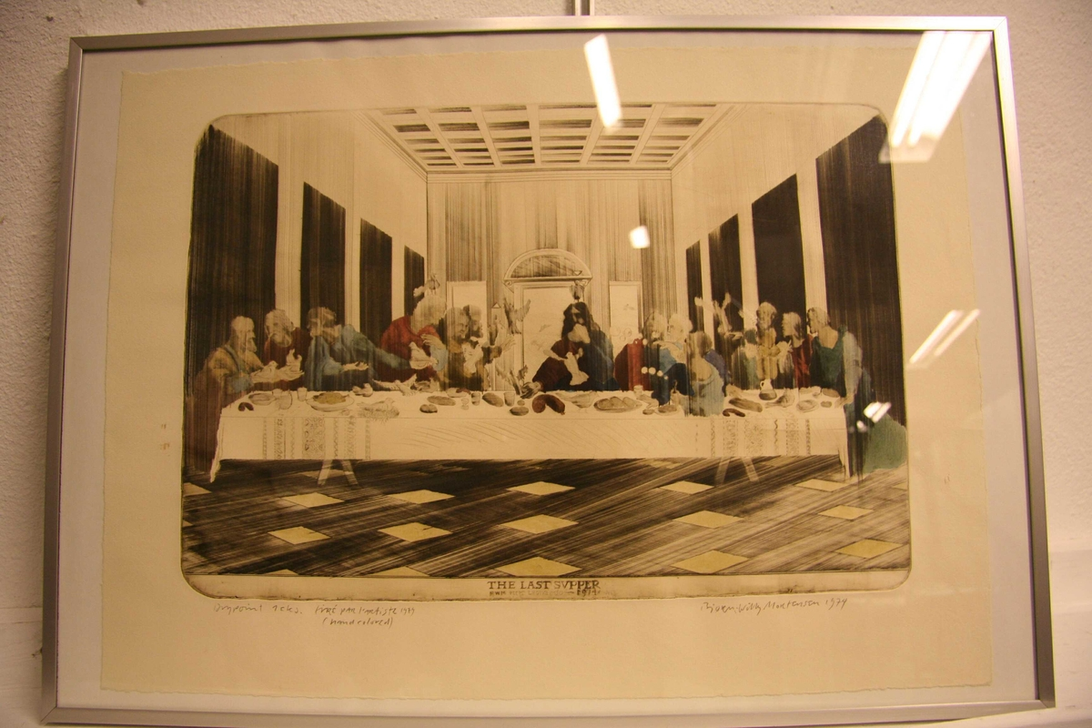 The last supper [Drypoint]