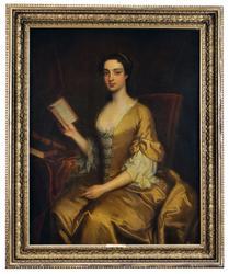 Porträtt av en dam vid drottning Annes hov [Oljemålning]