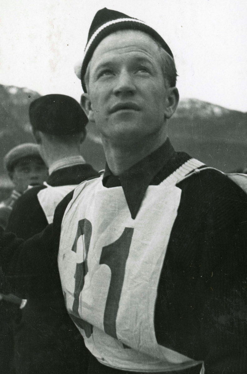 Athlete Birger Ruud at Garmisch