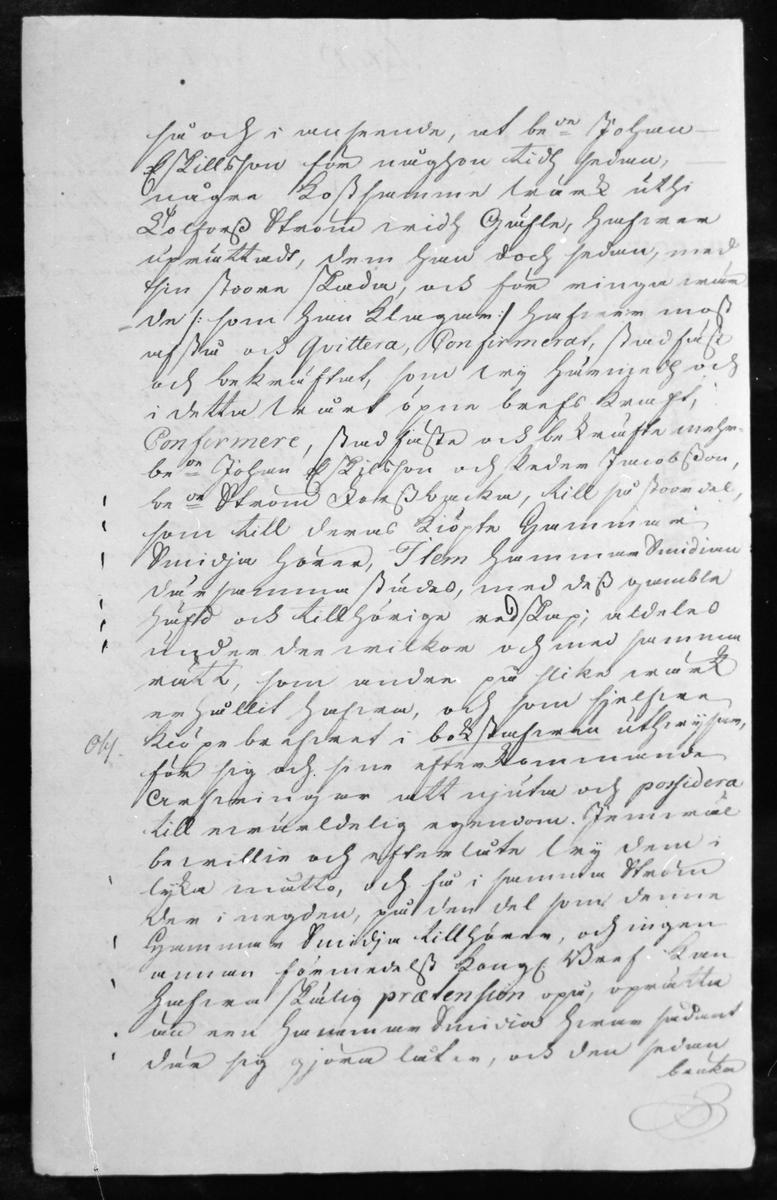 Skriftlig dokumentation undertecknad av Drottning Kristina, 22 oktober 1651