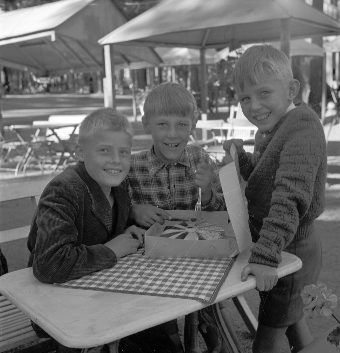Olympiad för barn i Boulognerskogen. 24 augusti 1952.