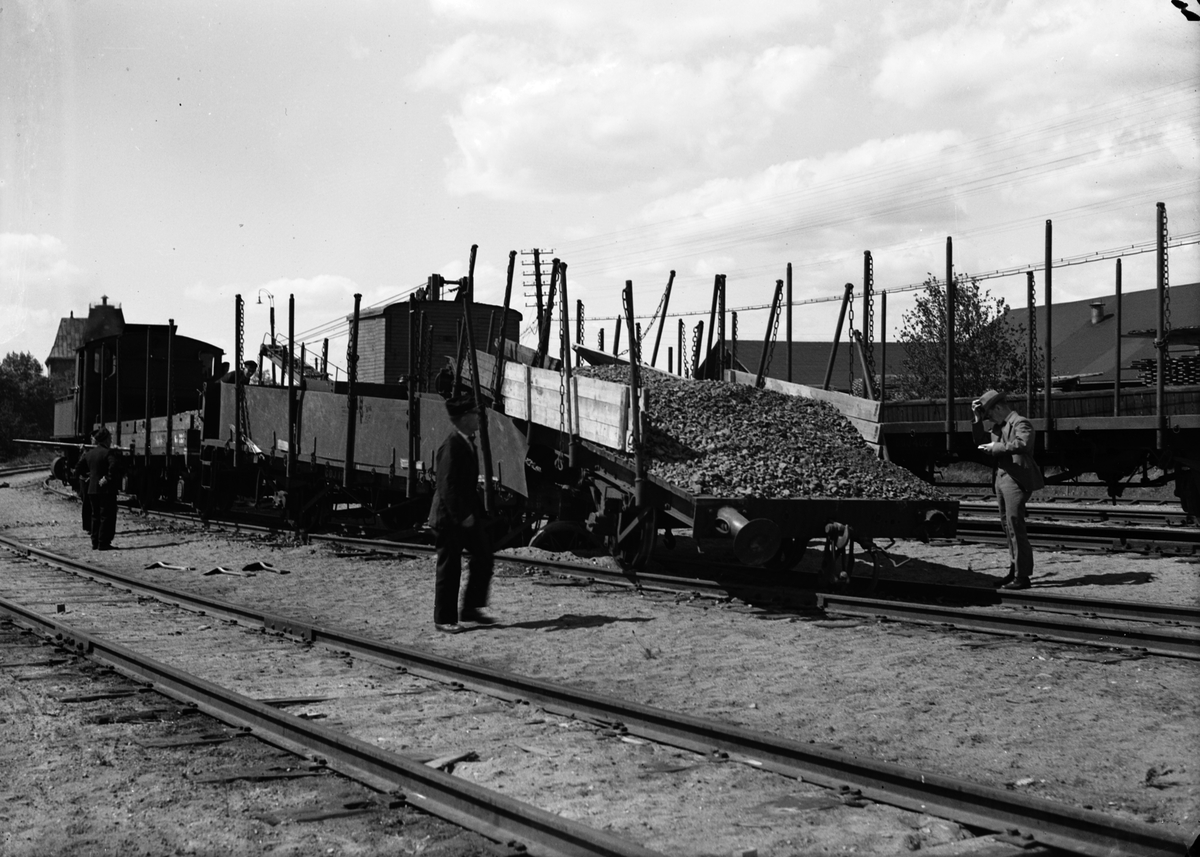 Tågurspårning vid Norr. Juni 1939