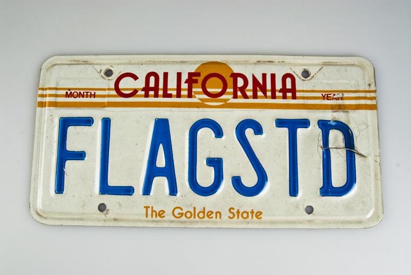 Bilskilt fra Calefornia