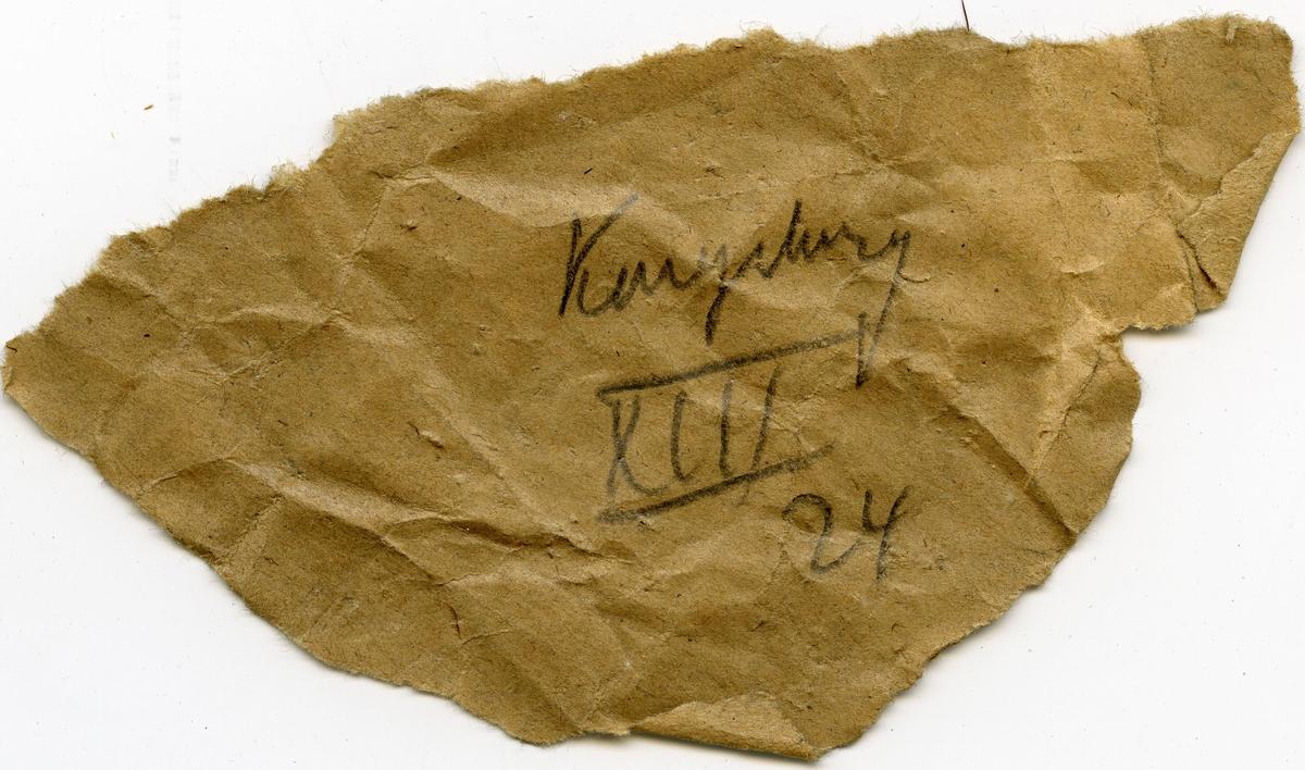 Lapp i eske: Kongsberg XIII 24