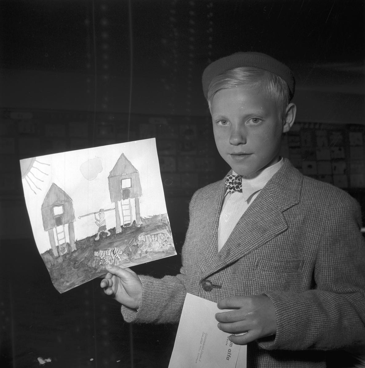 Kooperativa förbundets 50-års jubileum. Teckningstävling, prisutdelning. 29 maj 1949.