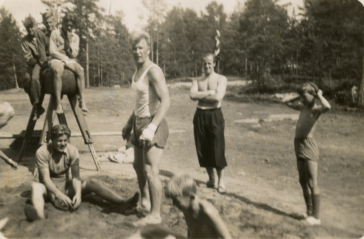 Jump traing during Ruud camp 1940