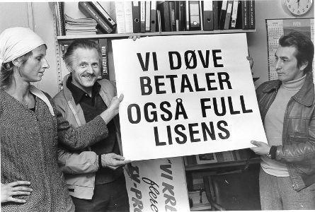 Fra demonstrasjon 23. september 1978