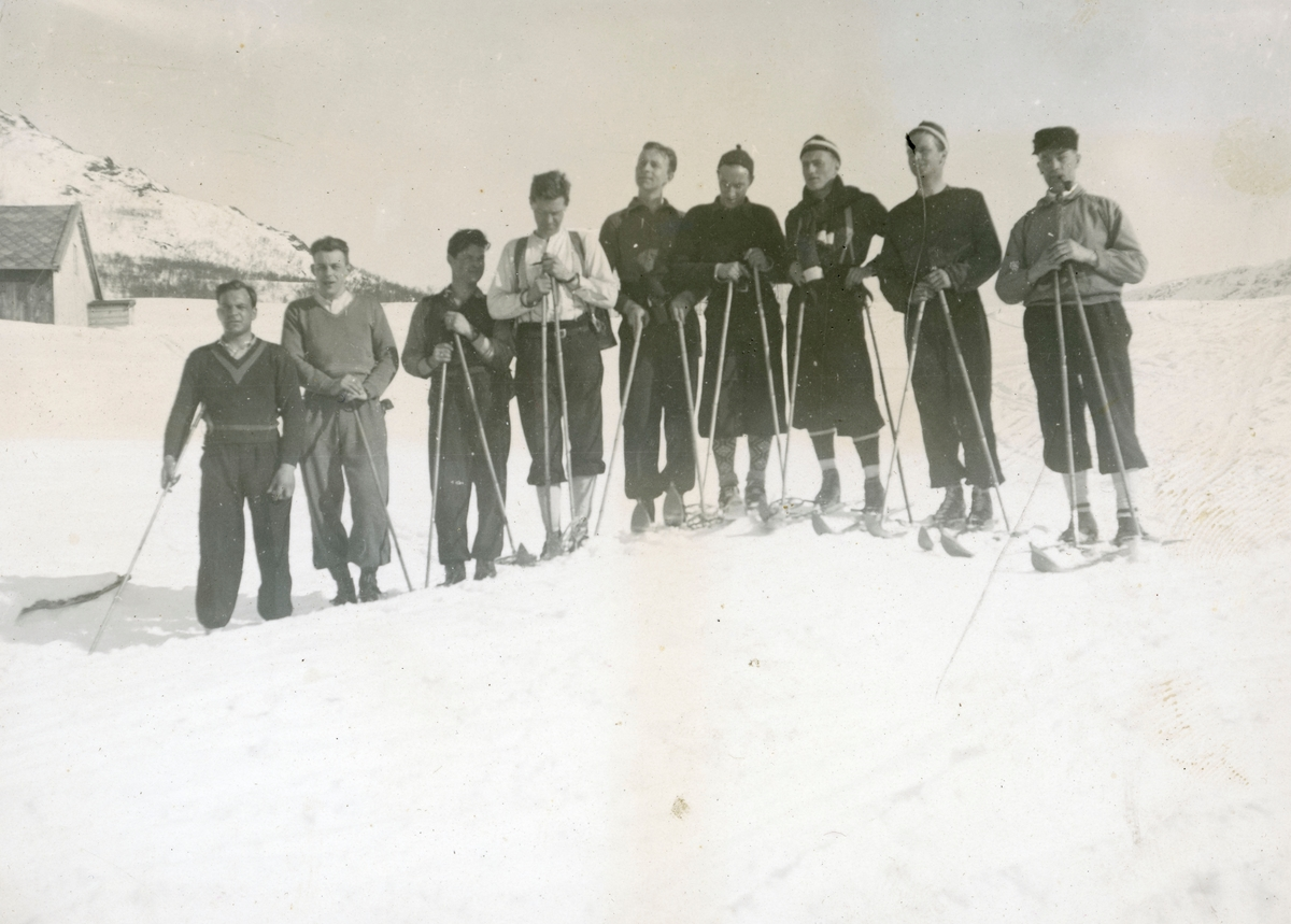 Norwegian athletes in the mountains
