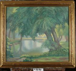 Old Willows at Naperville [Oljemålning]