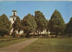 Vykort med Gamleby kyrka.