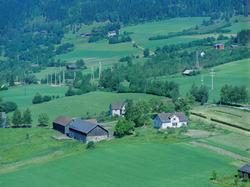 Flyfoto, Lillehammer, bebyggelse. Skjeggestad Øvre, Gamleveg