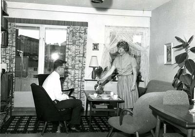 Stue på Manglerud 1964