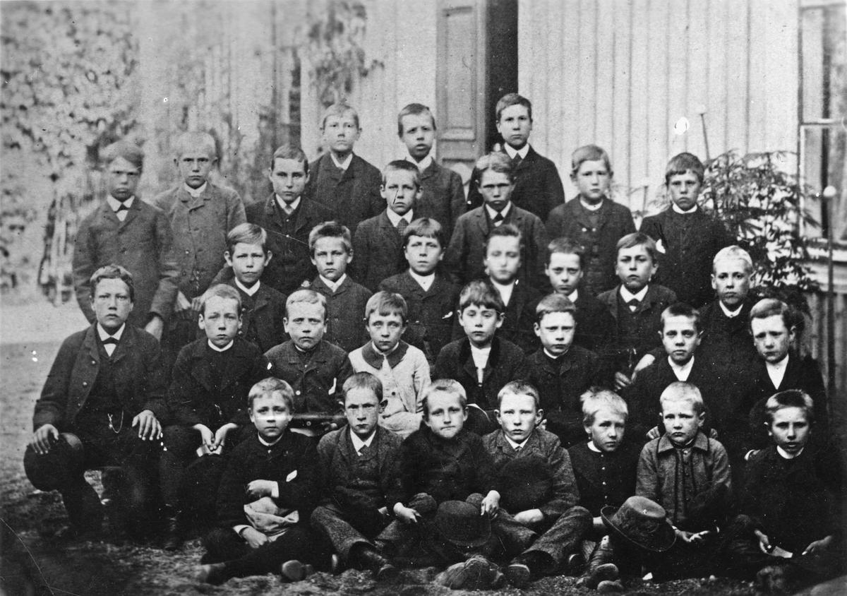 Skolklass, sekelskifte 18-1900.
