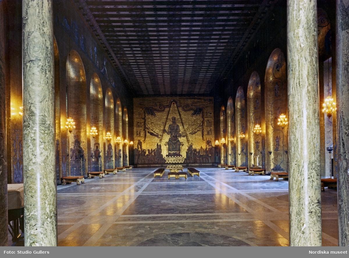 Interiörbild av Gyllene salen, Stockholms stadshus.