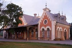 Hudiksvalls station, invigd 1888, blev byggnadsminne 1986.