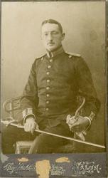 Porträtt av Johan Gustaf Martin Vidigson, löjtnant vid Hälsi