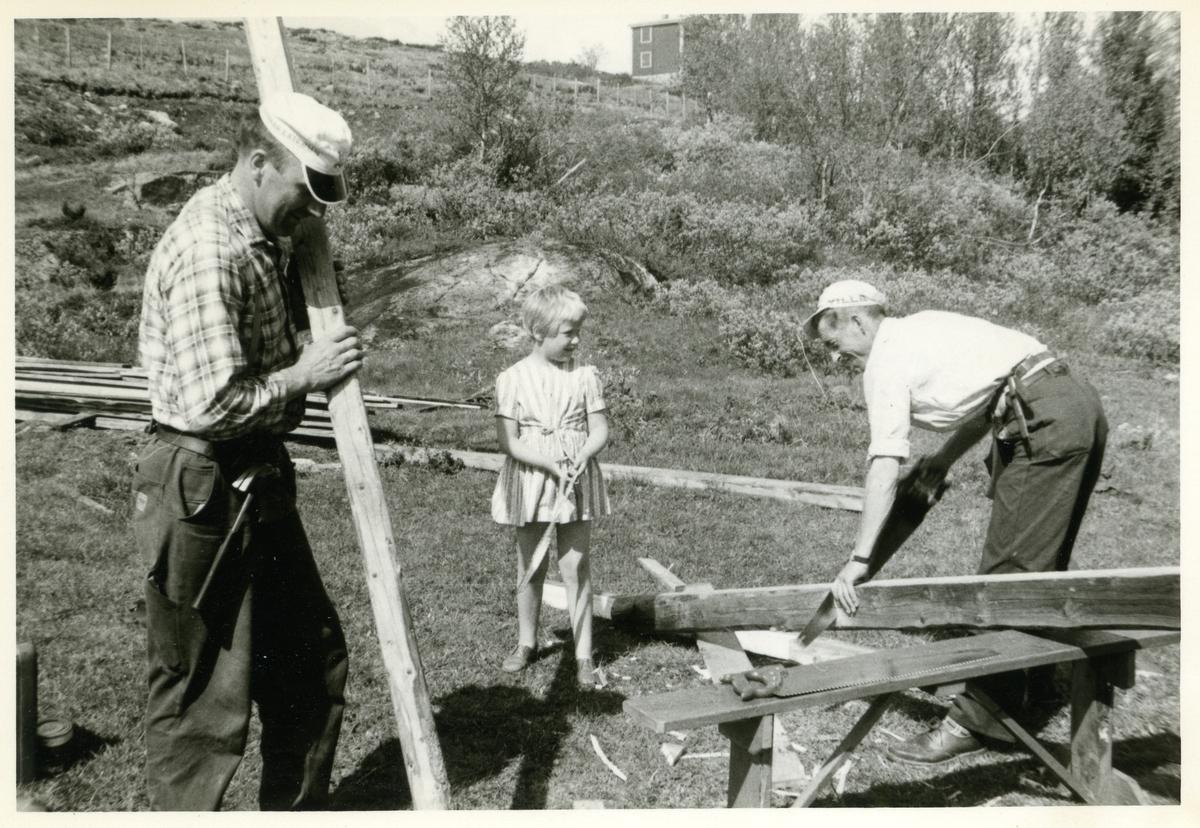 Jørgen Bakken, Ola Veglingsrud og Unni Lineikro. Tatt 1964.