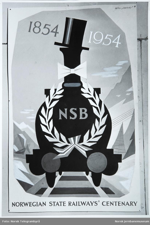NSB-annonse: 1854-1954 - NSB - Norwegian State Railway's Centenary