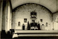 Interiören av Kristvalla kyrka.