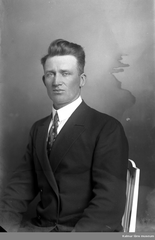Ateljébild. Enligt Walter Olsons journal är bilden beställd av Gunnar Liljegren.