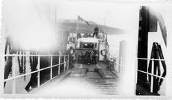 """Buss ombord på M/F """"Kvaløy""""."""