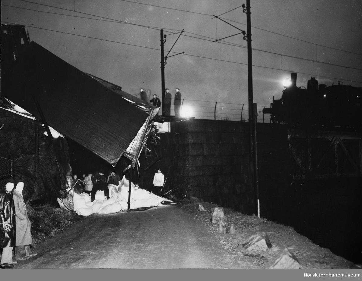 Avsporet godsvogn ved Sagdalen