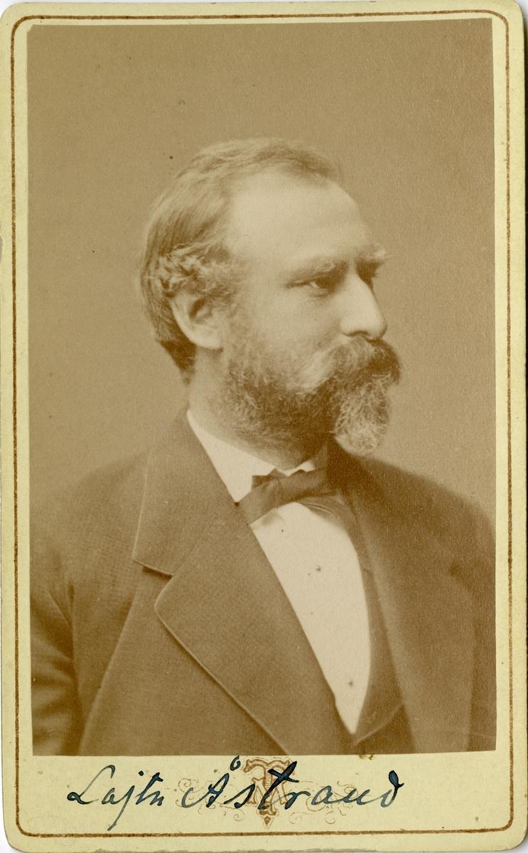 Porträtt av Fredrik August Åstrand, överstelöjtnant vid Första livgrenadjärregementet I 4. Se även AMA.0006819.