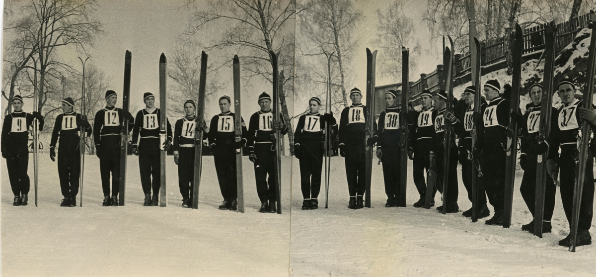 Ski athletes at Kongsberg