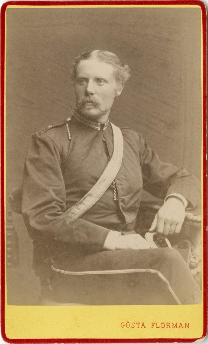 Porträtt av Georg Vilhelm Åkerman, löjtnant vid Skånska dragonregementet K 6.