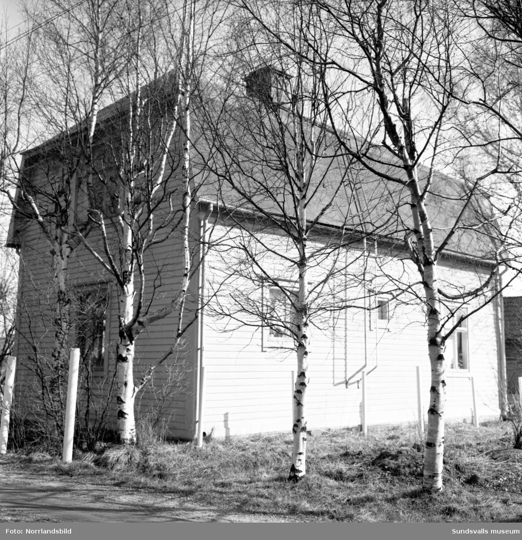 Numera rivet hus vid Linneagatan 5 i västra Skönsberg. Rönnmarks.