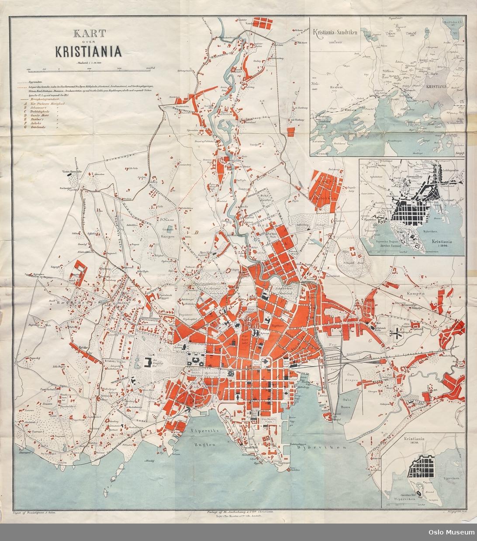 kvadraturen oslo kart Kart over Kristiania, Solem 1875 [Kart]   Oslo Museum / DigitaltMuseum kvadraturen oslo kart