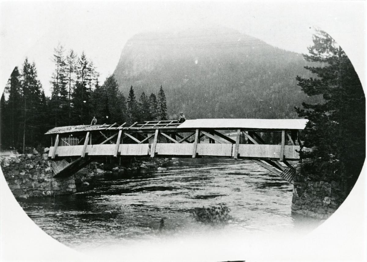 Fønnhus bru, Sør-Aurdal. Bygd i 1894 og revet i 1954.