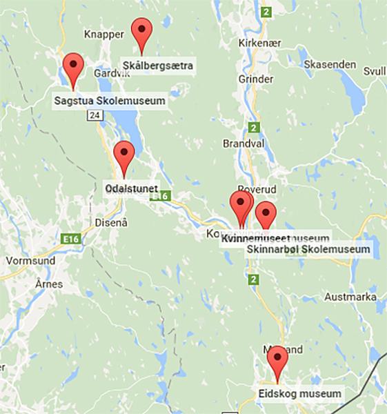 Kongsvingerregionen kart. Foto/Photo