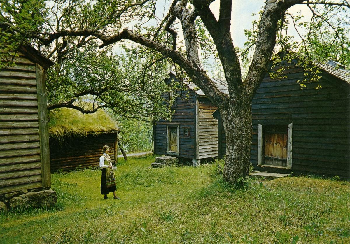 Postkort fra Hardanger Folkemuseum, Utne.
