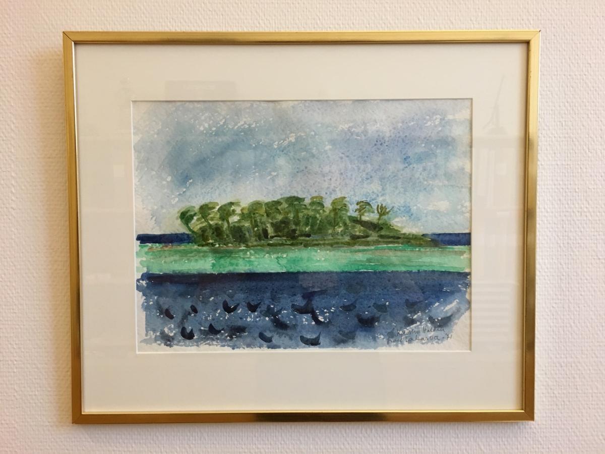 Atoll i Tuamoto, Takaroa [Akvarell]