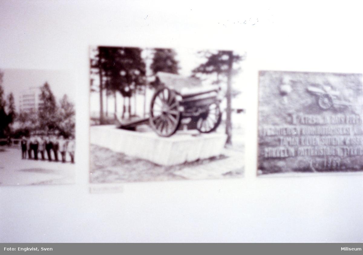 Artillerimuséet, finska. Interiör, fotografier.