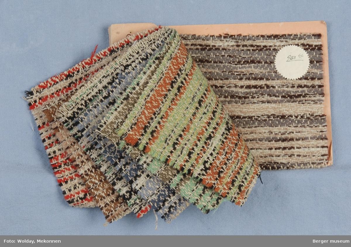 Møbelstoff Fillerye-mønster tverrstripet 7 farveprøver