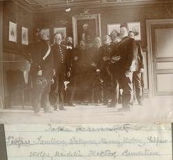 Officerare vid Hälsinge regemente I 14. Bildtext i fotoalbum