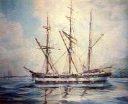 Bark 'Bayard' (ex britisk 'Kelsa')(b.1855, W. Pile jr., Sund
