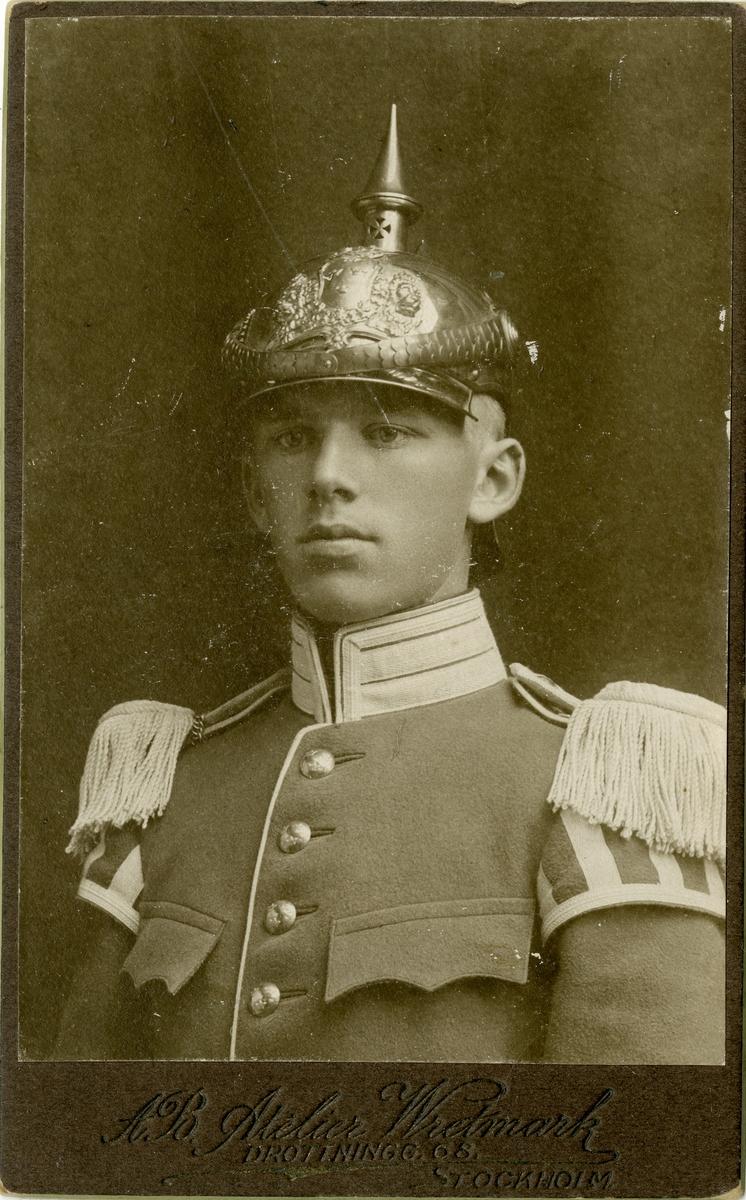 Porträtt av okänd musikmanskap vid Livgardet till häst K 1.