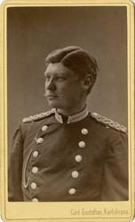 Porträtt av okänd underlöjtnant vid Livgarde.
