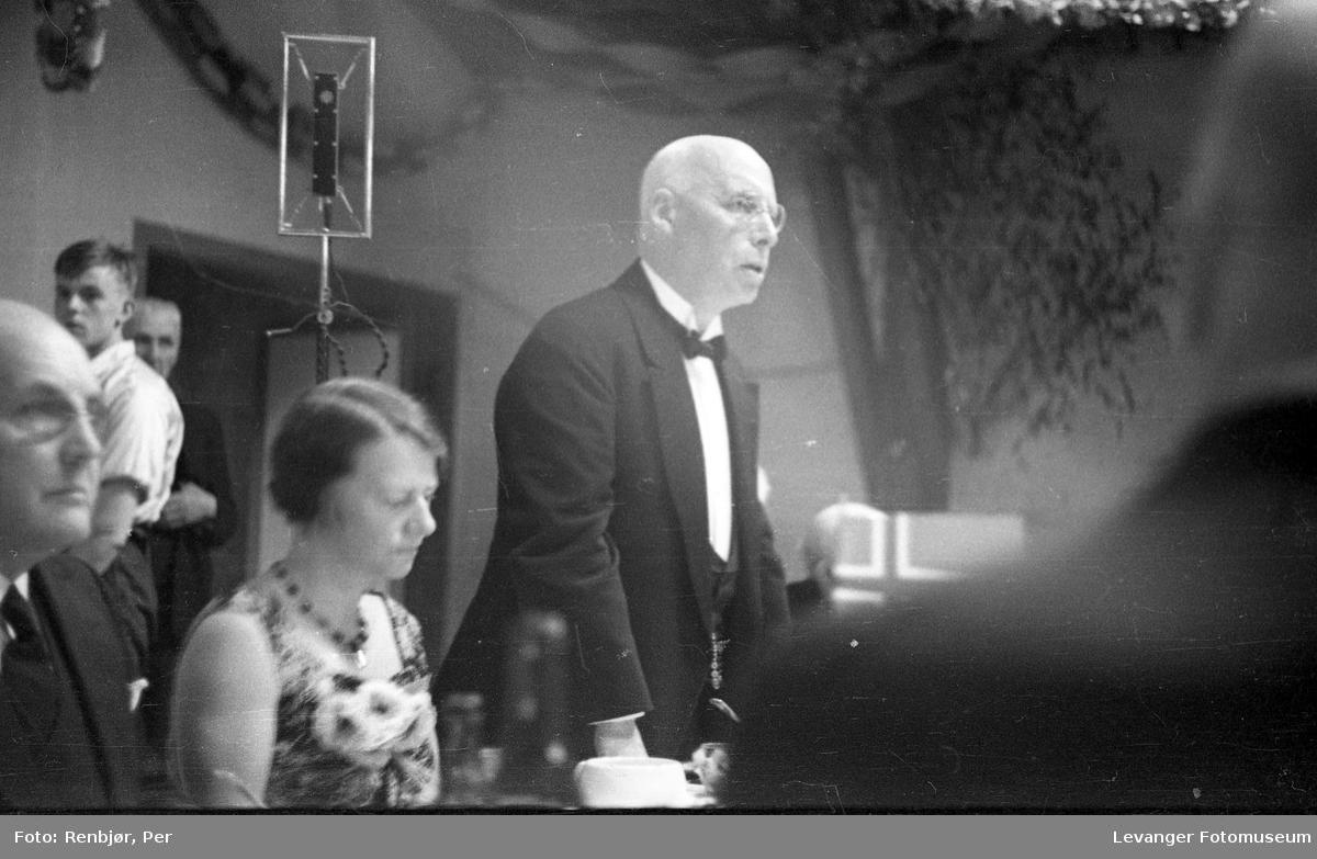 Tale ved borgermiddagen under byjubileeet i Levanger 1936.