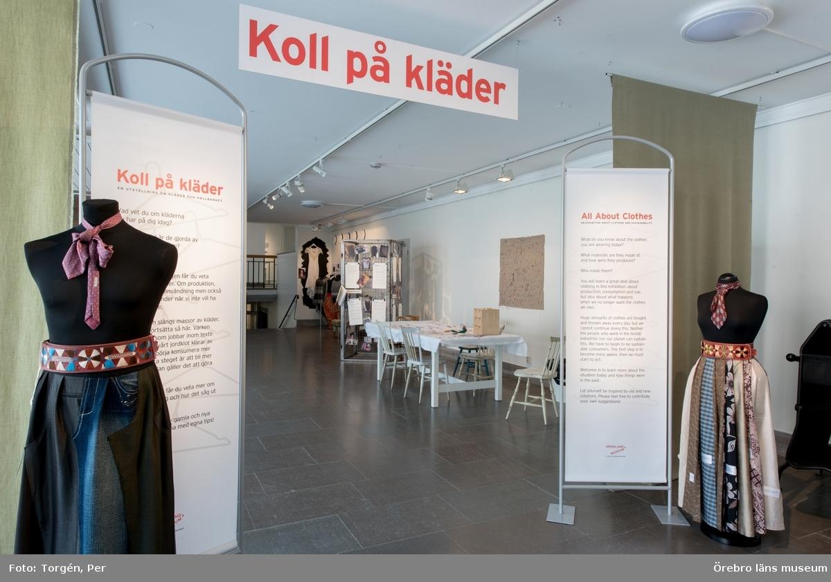 """Dokumentation av utställningen """"Koll på kläder"""" 18 mars 2017 – 28 maj 2017."""