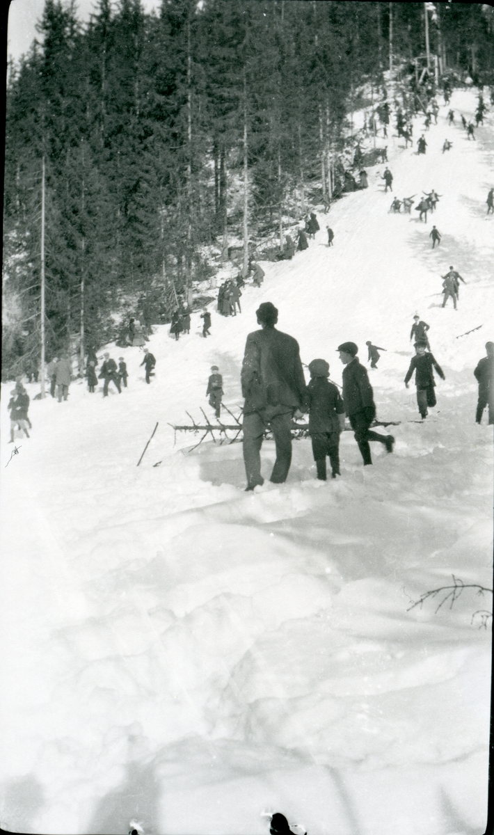 Hopprenn i Vabrøtabakken, 1920-åra.