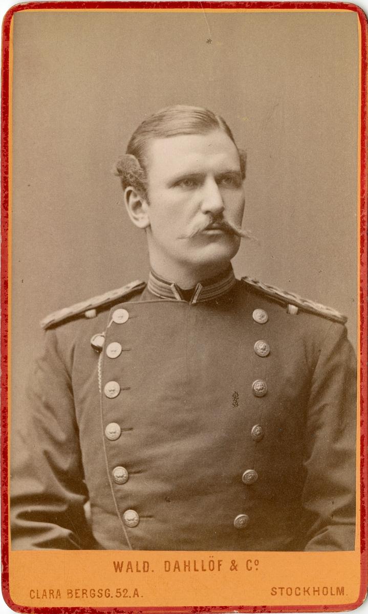 Porträtt av okänd officer vid Västgöta regemente I 6.