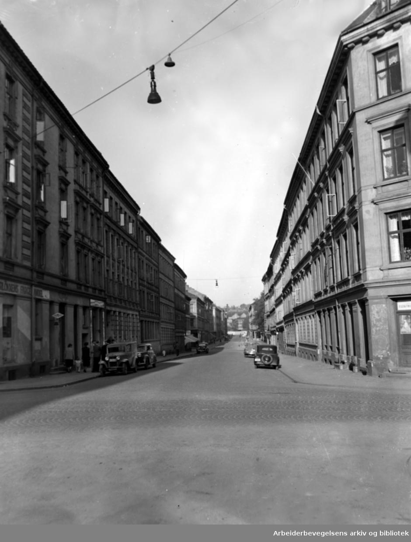 Schleppegrells gate. Mai 1950