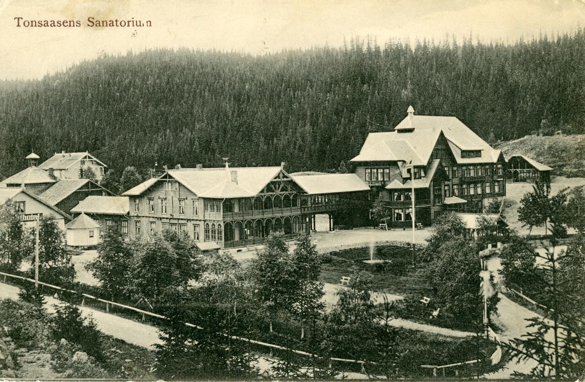 Tonsåsen sanatorium. Postkort sendt rundt 1905