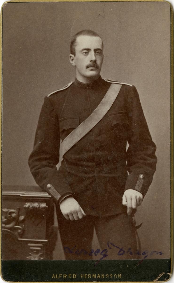 Porträtt av okänd soldat vid Livregementets dragoner K 2.