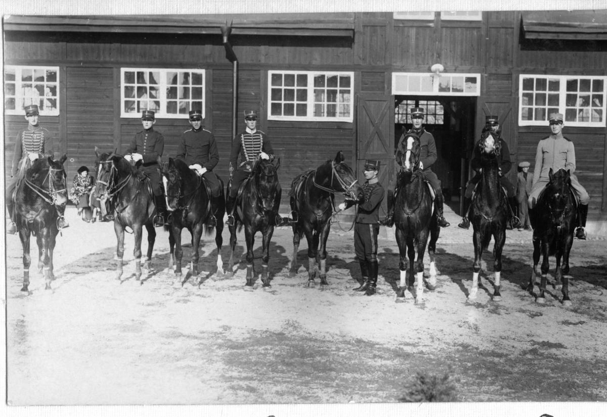 Träning å yngre hästar. Namn se notering.